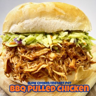 cover pic for {VIDEO} Slow CookerInstant Pot BBQ Pulled Chicken (Low-Carb, Paleo, Whole30)