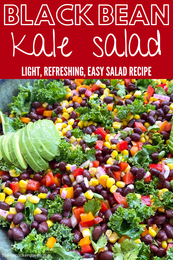 {VIDEO} Fiesta Kale Salad (Vegan)