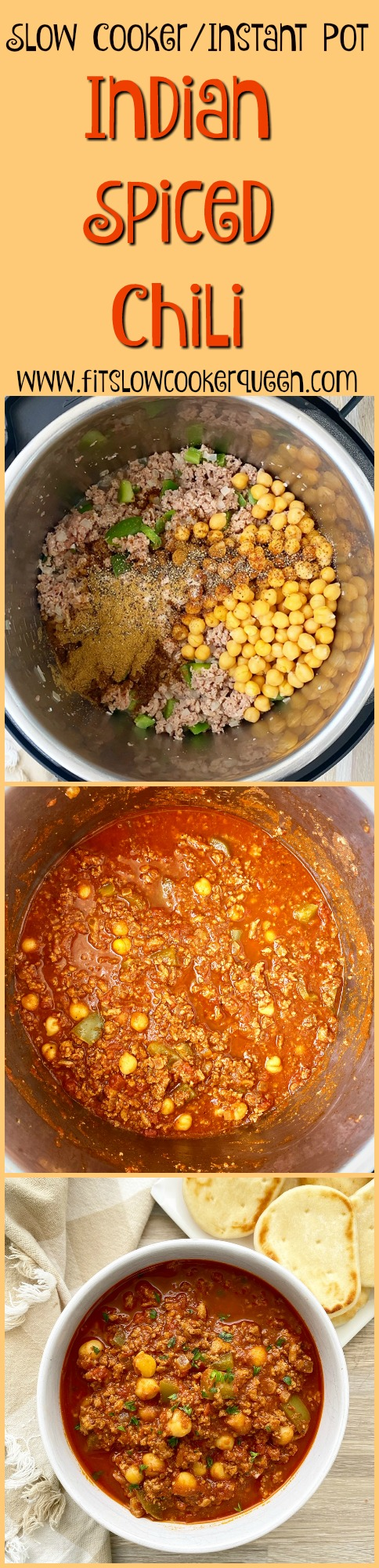 another pinterest pin for {VIDEO} Slow Cooker_Instant Pot Indian Spiced Chili (Paleo, Whole30)