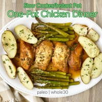 {VIDEO} Slow Cooker/Instant Pot One-Pot Chicken Dinner (Paleo, Whole30)