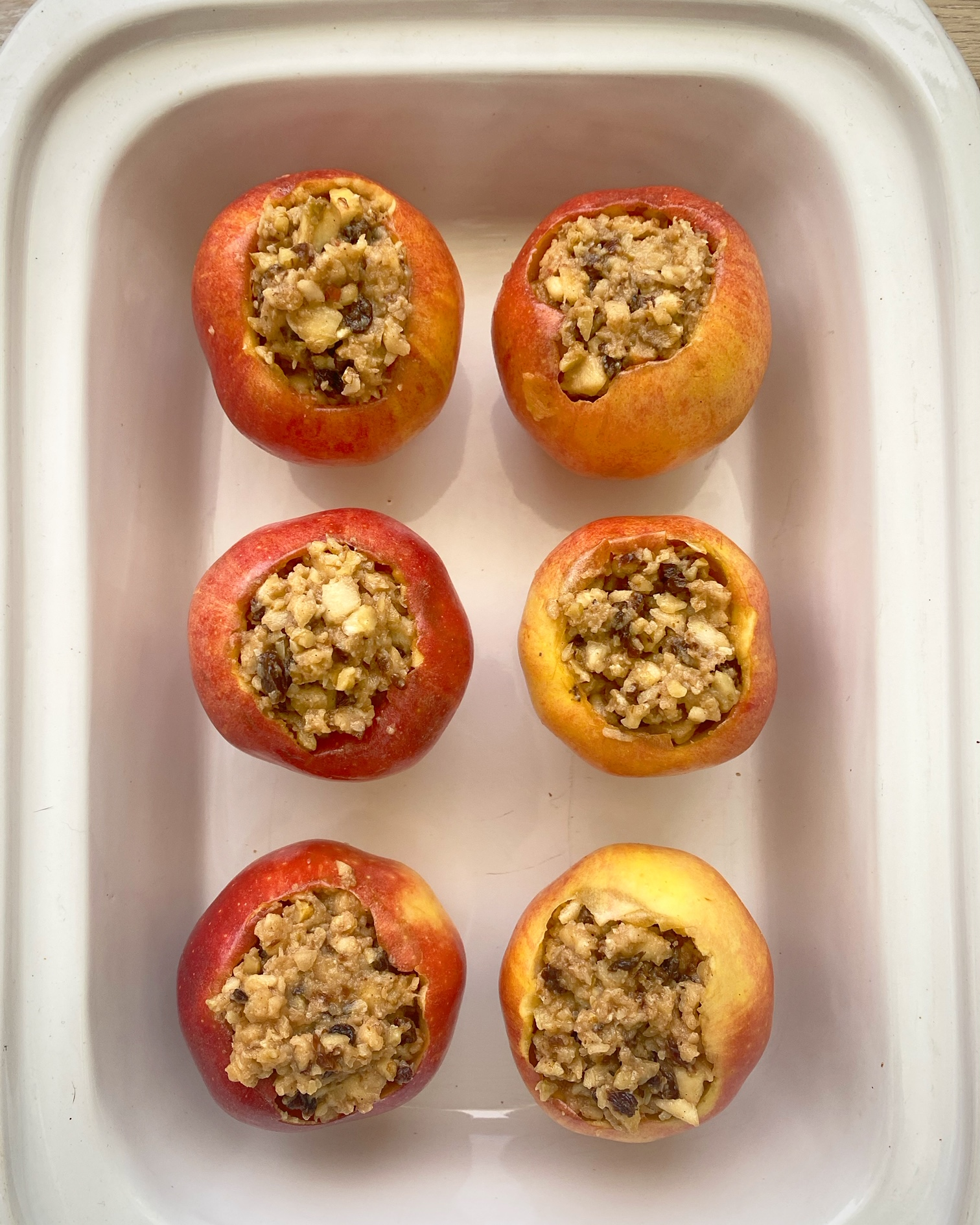 before pic of Slow Cooker Instant Pot Baked Apples (Paleo, Vegan)