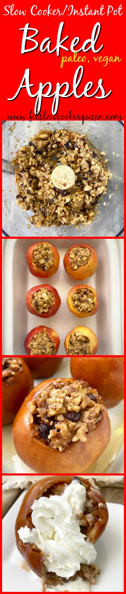 another pinterest pin for Slow Cooker_Instant Pot Baked Apples (Paleo, Vegan)