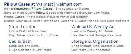 Bing Ads Walmart