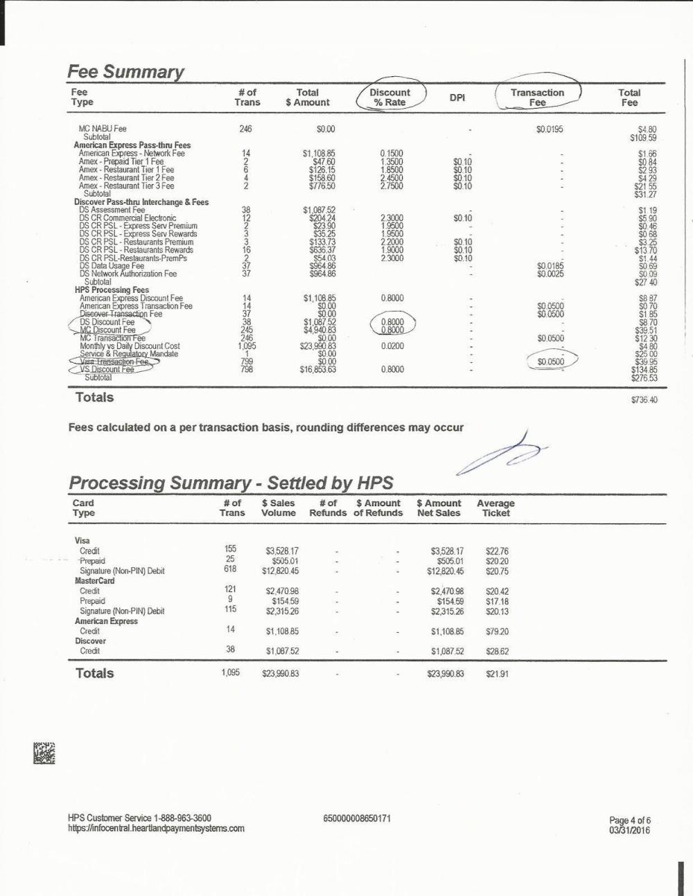 medium resolution of credit card processing fees understanding statements click to enlarge