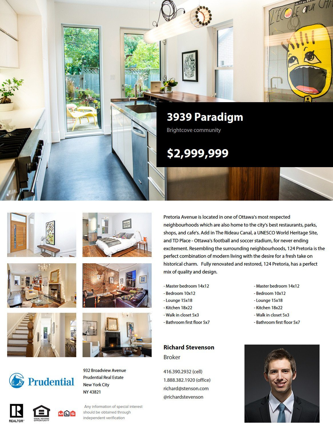 feature sheet template real estate