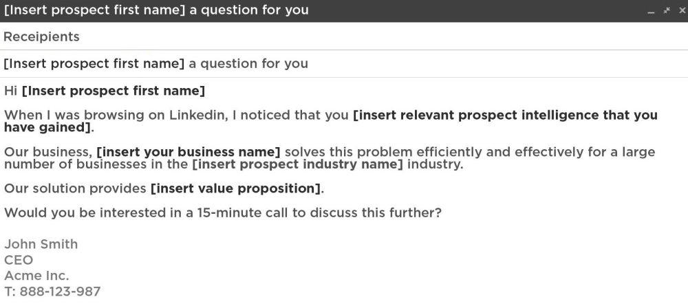 medium resolution of free sales email template
