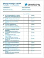 Interview Evaluation Form - manager