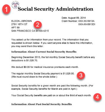 Social Security Award Letter Example Olala Propx Co