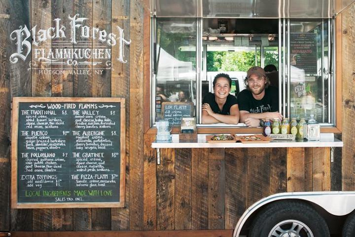 Tablero de menú de camión de comida