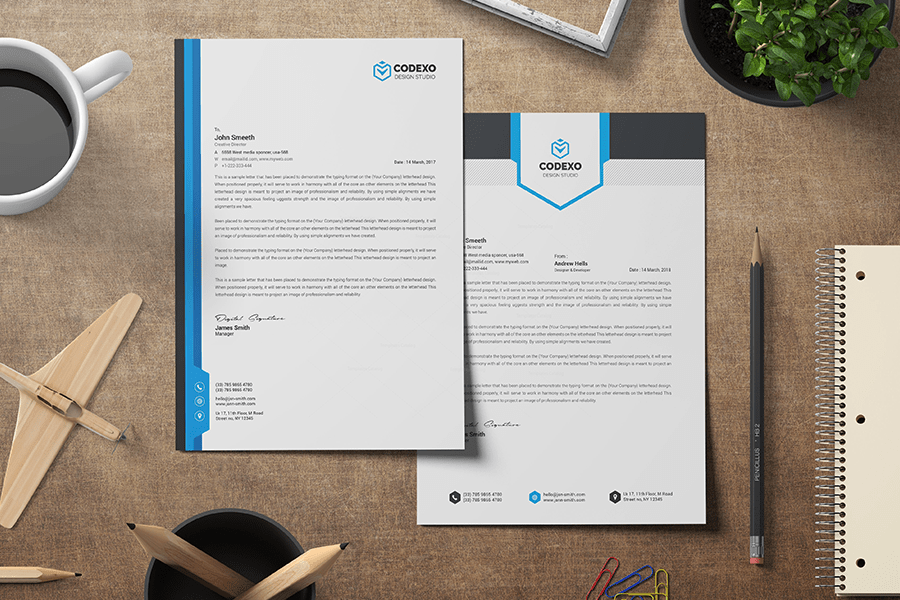 top 20 business letterhead