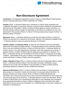 NonDisclosure Agreement NDA Definition  Free Template