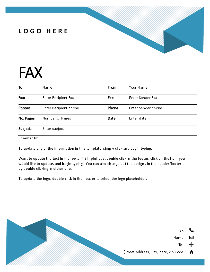 free fax cover sheet template open office