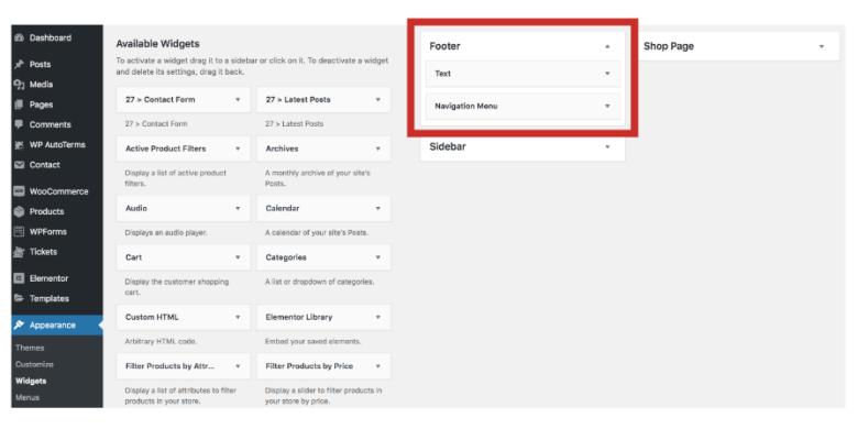 Modifica il piè di pagina di WordPress
