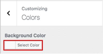 Imposta il colore o l'immagine di sfondo in WordPress