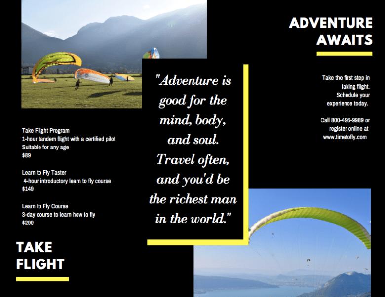 Canva - Adventure Sports Brochure Side 2 Esempio