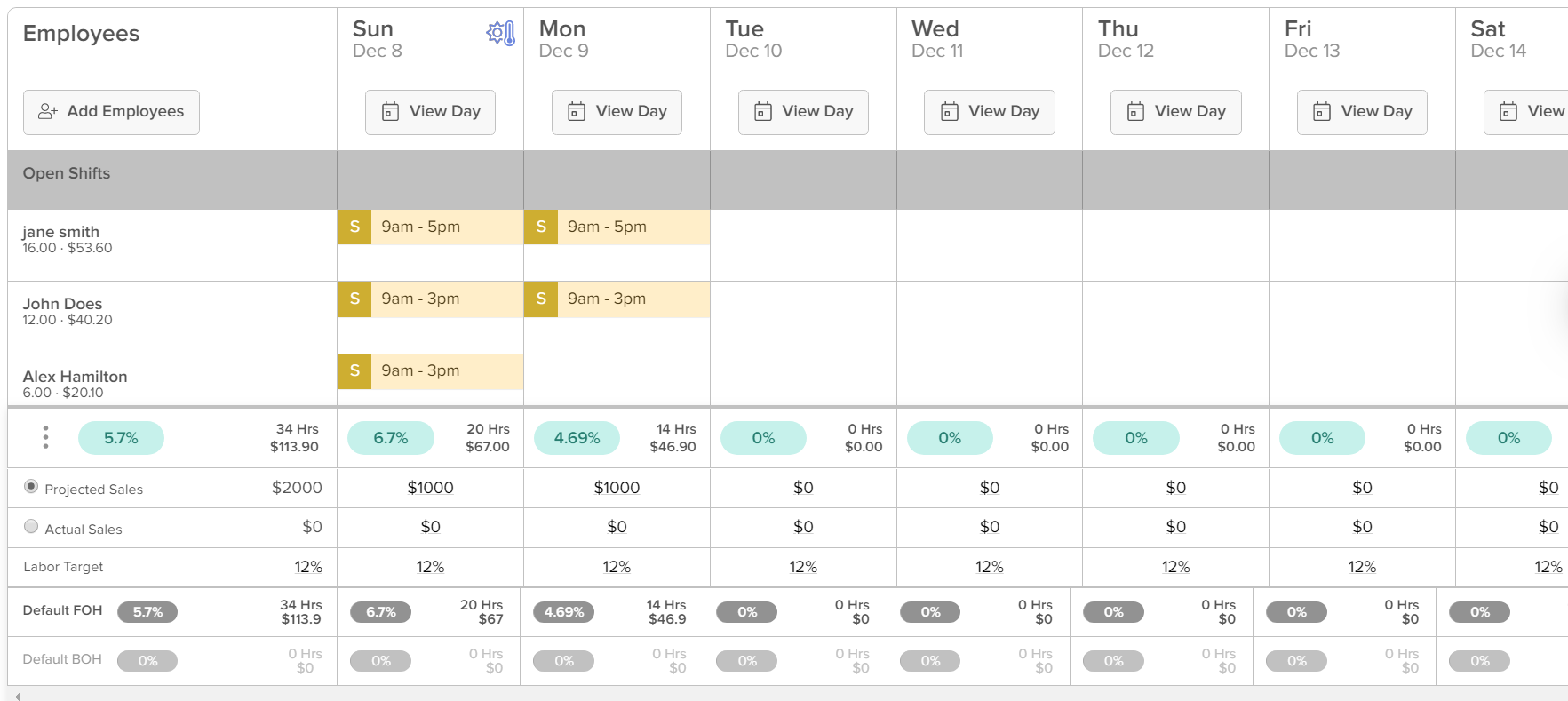 Weekly schedule with room for the am and pm shifts of up to five different positions. How To Use A Restaurant Schedule Template Free Templates