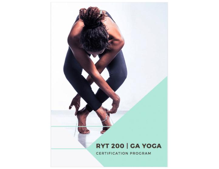 Canva - Esempio di cartella di presentazione del programma di certificazione per insegnanti di yoga