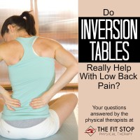 Do Inversion Tables Help Low Back Pain