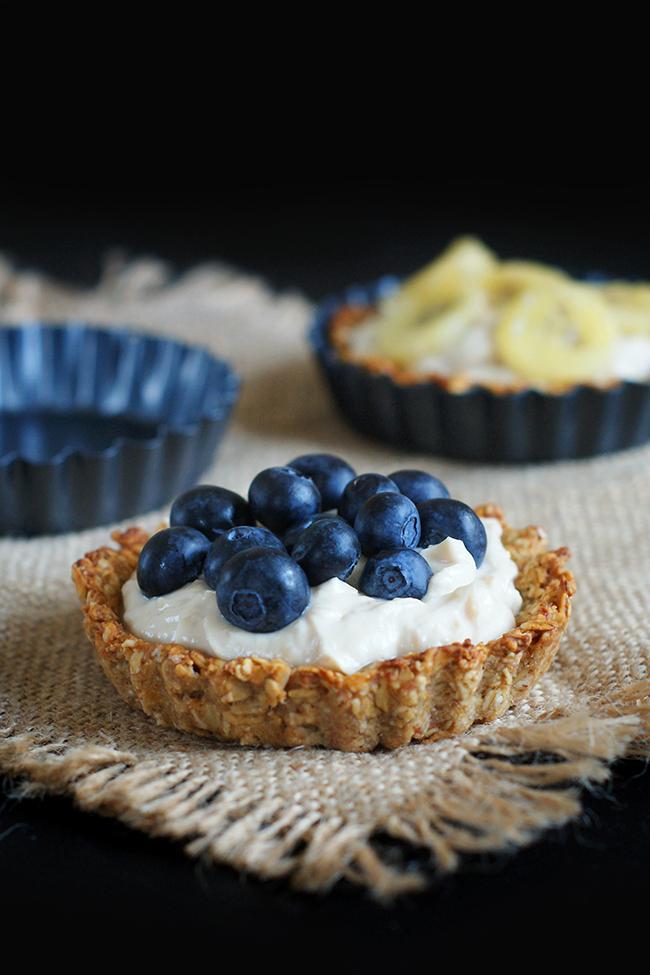 Owsiane tartaletki z kremem orzechowym   Zdrowy deser lub śniadanie