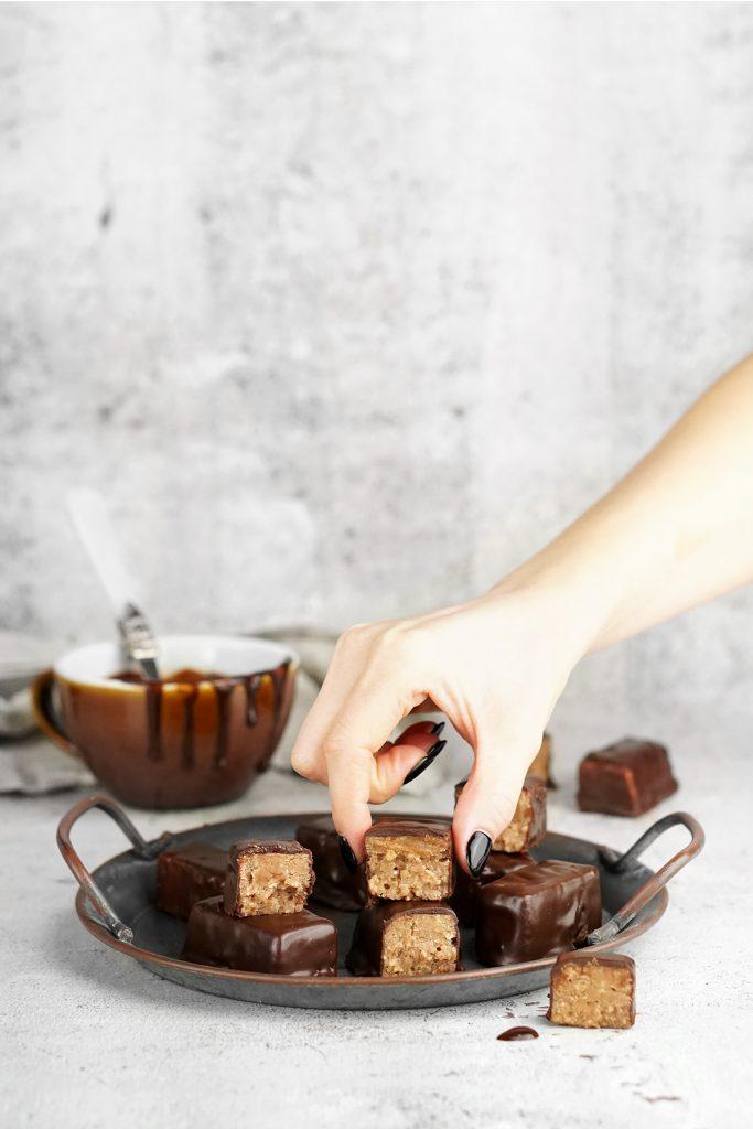 Domowe FIT michałki - orzechowe czekoladki
