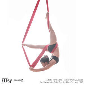 Miss BOBO SIN Artistic Aerial Yoga Instructor Training Course (Course includes Beginner, Intermediate, and Advance Flow and Pose) This is a continuing program designed by YACEP, Yoga Alliance Registered Yoga Instructor RYT can complete and submit for Yoga Alliance.