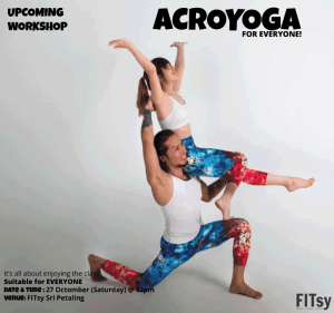 Acroyoga Workshop - Ditch the boring yoga, have fun and lots of laughter with acroyoga - 27 October 2018