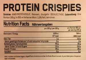 ESN Protein Crispies Nährwerte