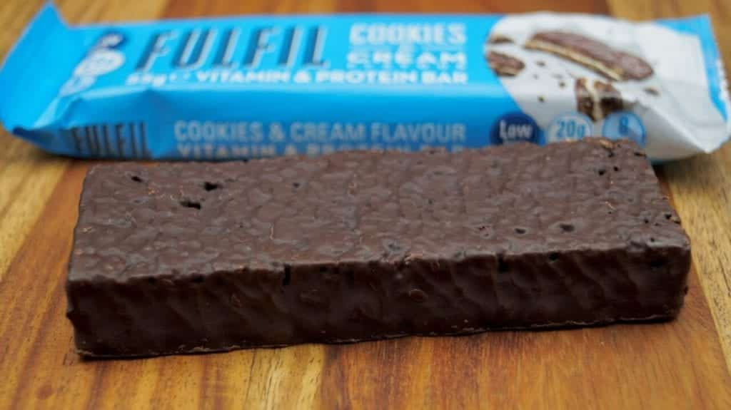Fulfil Cookies & Cream Protein Bars throughout