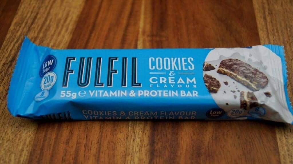 Fulfil Cookies & Cream Protein Bar review