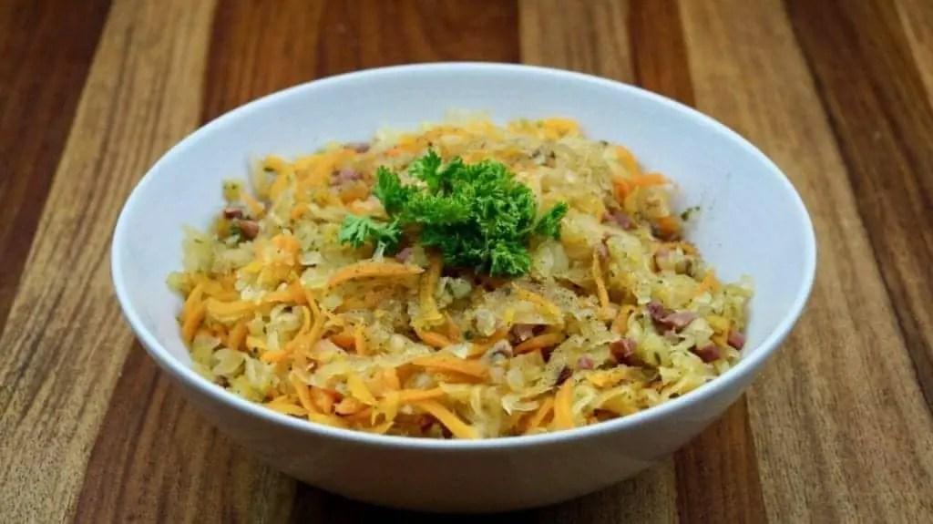 Curry Krautsalat süß-sauer  - Orientalisches Krautsalat Rezept