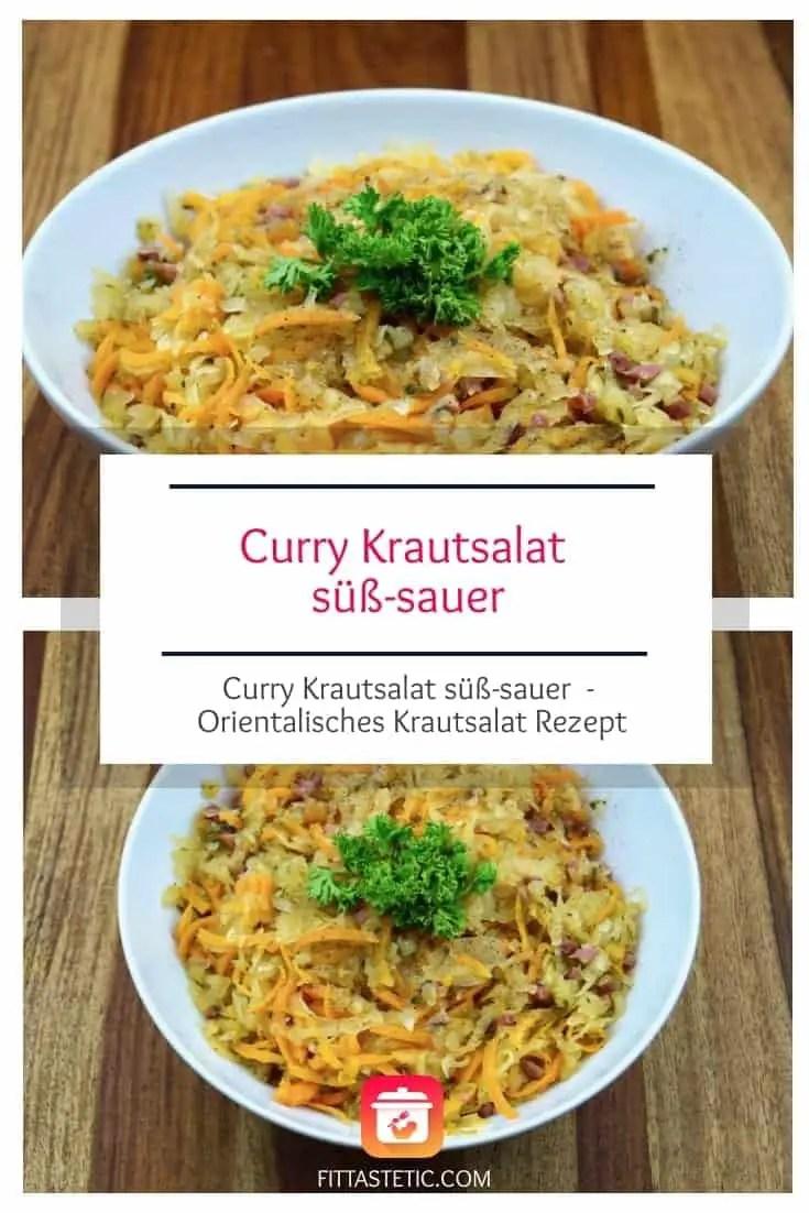 Curry Krautsalat süß-sauer. Mein unglaublich leckeres orientalisches Krautsalat Rezept. Damit wird die Wiesen gerockt! #krautsalat #orientalisch #gesund #rezepte #lecker #salatrezept #salat #krautsalatrezept #gesunderezepte #orientalischerezepte