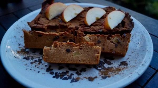 Gesunder Süßkartoffel Apfelkuchen