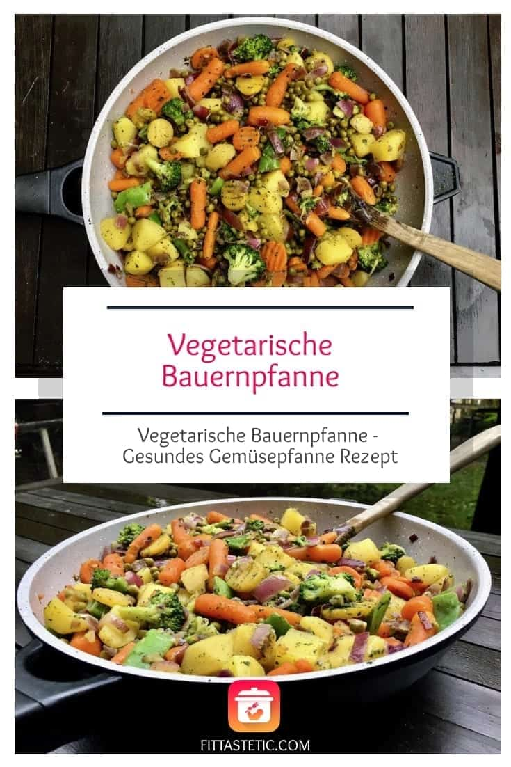 Hier gibt es ein gesundes Gemüse Pfanne Rezept: meine vegetarische Bauernpfanne. Gesunde vegetarische Version der klassischen Bauernpfanne.#bauernpfanne #gemüsepfanne #gemüse #gesund #vegetarisch #veggie #vegetarischerezepte #gesunderezepte