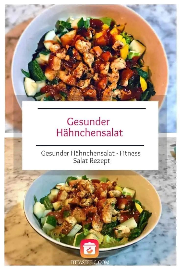 Ein klassisches und doch so leckeres Fitness Salat Rezept: Mein Gesunder Hähnchensalat! Dieser Hähnchensalat ist kinderleicht und echt gesund! #salat #leicht #gesund #fitness #rezept #leichtesalat #salatrezept #gesunderezepte