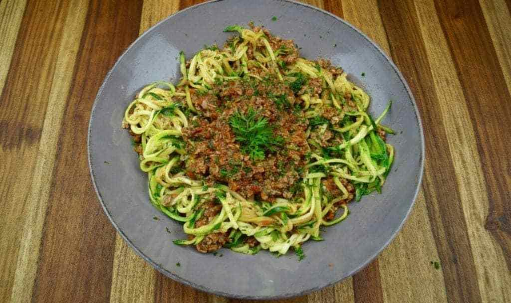Low-Carb Nudel Bolognese