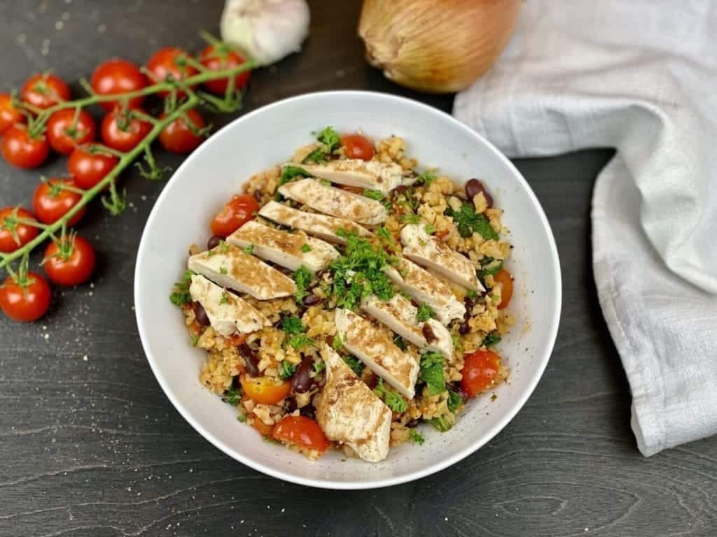 Low Carb Chicken & Rice Bowl