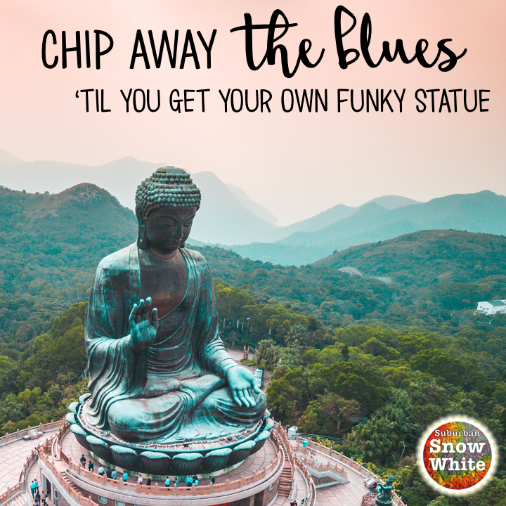 Chip away at the Sunday night teacher blues until you get a funky statue.