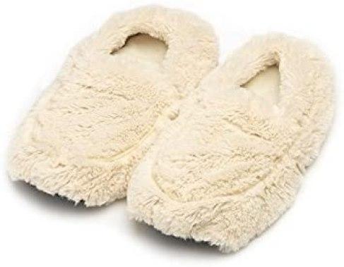 A tired teacher needs soft heatable slippers.