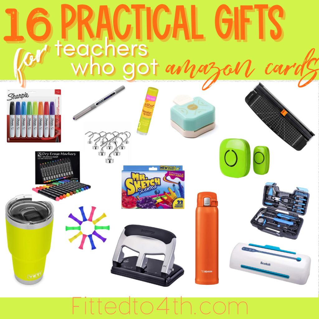 16 Practical Holiday Gift Ideas for Teachers (who got Amazon cards!)