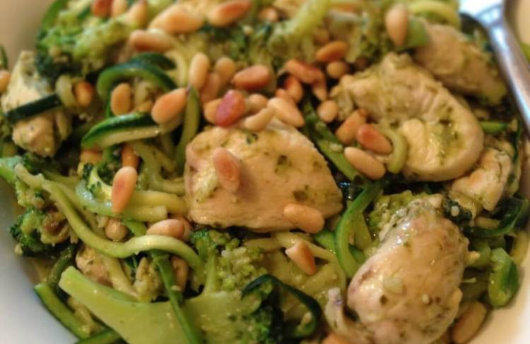 Fitter Food Pesto Chicken and Broccoli with Courgetti