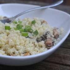 Mushroom and Spring Onion Cauliflower Rice