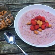 Protein Bakewell Porridge