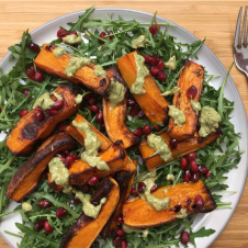 Squash Wedges Almond Pesto