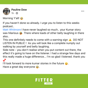 Fitter Food Radio - Testimonial