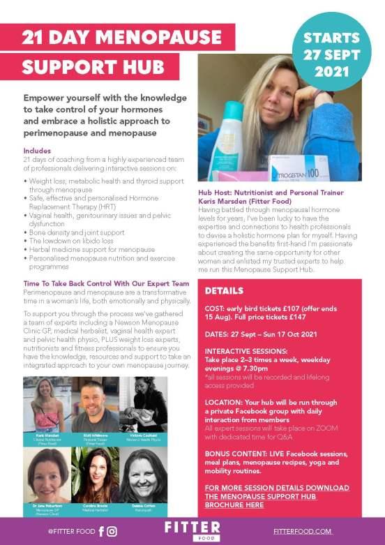 Fitter Food Menopause Support Hub - Poster 27 Sept