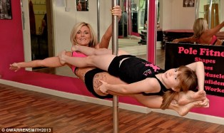 Kids pole dancing