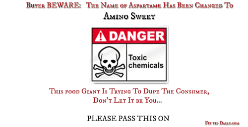 fda changes name of aspartame