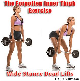 wide stance dead lift