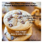 Flourless – Paleo Chocolate, Peanut Butter-Scotch Mini Muffins