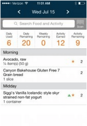 weight watchers competing app